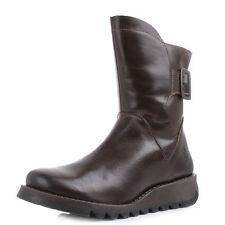 Fly London Ladies Sien Dark Brown Leather Boots New In