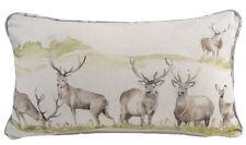Handmade Voyage Maison Moorland Stag Filled Oblong Bolster Cushion 30cm x 50cm