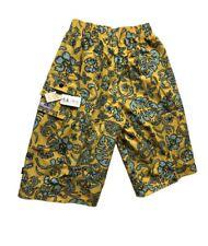 Abercrombie & Fitch Para Hombre Calce Ancho 3/4 de Superdry con cintura elástica-Amarillo/Azul