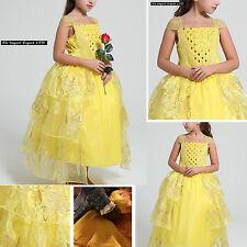 La Bella e La Bestia Vestito Carnevale Maschera Belle Cosplay Girl Dress BEAB01