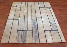 Teppich Muster Holz Mauer Laminat Edles Modernes Design 2Größen 80x150 160x220cm