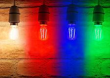 Auraglow Multi Colour 4w G45 Golf Ball Filament LED Vintage Retro Light Bulb