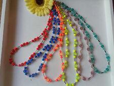 Elegante Halsketten Neon Perlen  6 Varianten auswählbar UNIKATE