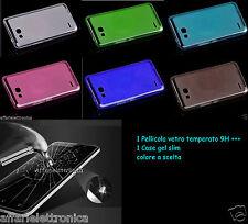 para Huawei Honor 3x Ascender G750 CASO DE LA CUBIERTA CAUCHO GEL+PELÍCULA