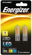 Pack Doble 2w=20w Energizer Led G9 ECO Filamento Cápsula Bombillas 3000k