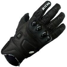 Richa Rock Short Cuff Leather Motorcycle Glove - Black