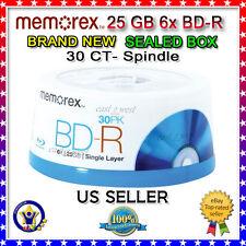 memorex 25GB 6X BD-R 30 Packs Blu-ray Recordable Media Model 98682 NEW 30 Pack