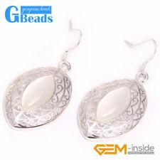 Fashion 24x38mm Marquise Beads Tibetan Silver Dangle Earrings for Chritmas Gift