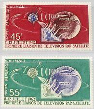 MALI 1962 55-56 40-41 1st TV Connection US - Europe Telestar Satellite Space MNH