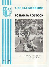 OL 81/82 1. FC Magdeburg - FC Hansa Rostock