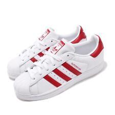 adidas Originals Superstar White Red Mens Womens Casual Shoes BD7420