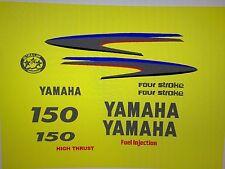 yamaha outboard decal kit 100 /115 / 150hp 4-stroke marine vinyl silver