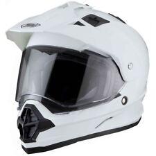 THH Plain White TX26 Visor Dual Sports Helmet