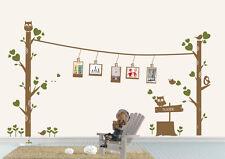 Wandtattoo wandaufkleber wandsticker wohnzimmer Baum Vogel  Eule Herz wbm51