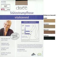 VITALISIEREND Stützstrumpfhose, 40den, 8-10 mm/Hg, div. Farben + Größen  *disee*