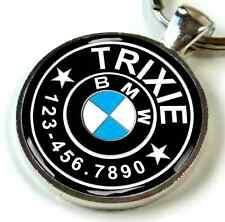 BMW Emblem Beamer Car custom pet tag for dog cat personalized cute black
