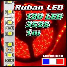 Ruban LED 3528 120 LED/m rouge bobine de 1m dispo également en version étanche