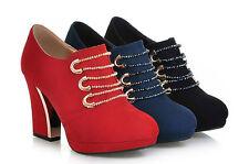 oxford botas botines de mujer cómodo talón 9 cm disp en tres colores 8801