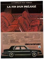 1984 CHRYSLER New Yorker Vintage Original Print AD Black car interior photo CA