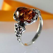 A324 Ring 925 Sterling Silber Schmuck baltische Bernstein Amber versch.Größen