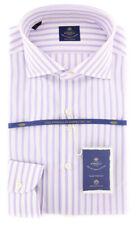 New $600 Luigi Borrelli Lavender Purple Shirt - (EV061995NANDO)