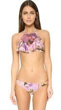 Zimmermann Lotte Frill Halter Bikini | Mesh Halter top | Purple/Pink |Sz 0,1,2,3