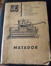 Claas Mähdrescher Matador Ersatzteilliste