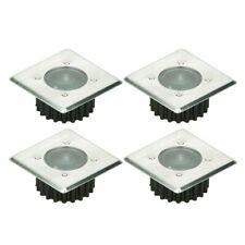 Pacco 4 pezzi farretto LED pavimento piasterella luce spot alimentazione solare