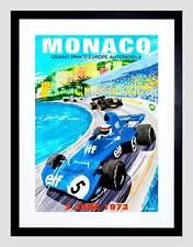 VINTAGE pubblicità Motore Sport MONACO GRAND PRIX 1973 FRAMED ART PRINT b12x11538