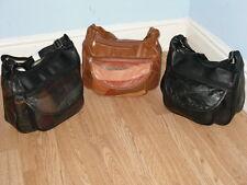 A Soft Patchwork Leather Shoulder Handbag With 4 Zip Sections 1 Flap Over Pocket