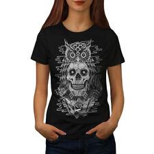 Búho Cara Cabeza Muerta Cráneo wellcoda Para Mujer T-Shirt Tee Casual de diseño impreso, 0