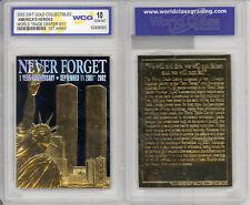 New listing Ny 9/11 23K Gold Bar Tablet Card #3 Ny