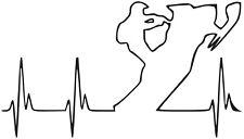 Snowmobile Heartbeat Vinyl Decal sticker SKI-DOO ARCTIC CAT YAMAHA POLARIS