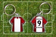 SOUTHAMPTON football shirt KEYRING, THE SAINTS Fully personalised name & number