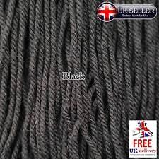 Negro Grueso Hilo Trenzado Pulsera De Cadena De Algodón Assorted Color 2MM Cable de costura