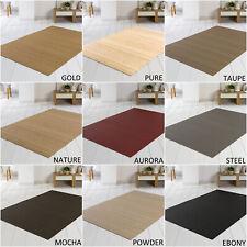 Bambusteppich Bambus Teppich SOLID, in 8 Farben & 15 Größen, Wohnzimmerteppich