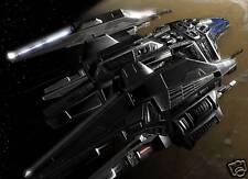 Terran Valkyrie Battlestar Spacecraft Wood Model New