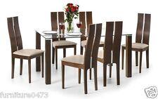 Julian Bowen Cayman Dining Range - Solid Beech & Walnut Finish - Free Delivery