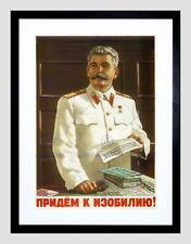 87024 POLITICAL STALIN SOVIET USSR COMMUNISM BLACK Decor WALL PRINT POSTER CA