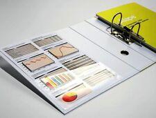 AUTO-Adesivo Supporto Sinistra Chiaro tasche deposito angolare per memorizzare documenti A4