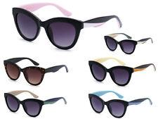 2a8a0282bc7 CG Designer Womens Vintage 3 Tone Cat Eye Fashion Sunglasses + Soft Bag   36252