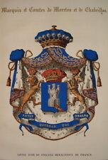 1843 Magny Heraldik Orden Abzeichen Malteser Wappen Farblithos