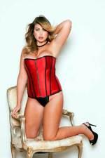Sexy Plus Size Lingerie Victorian Satin Zipper Front Bustier Corset Adult Women