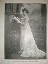 photo actress Rosie Boot now Marchioness Headfort 1902