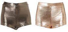 Topshop Foil Knickers HotPants Hot Pants Shorts Size 6 8 10 12 14 16 FREE P&P