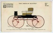 Columbus OH Vehicle American Horse Wagons Rare Postcard