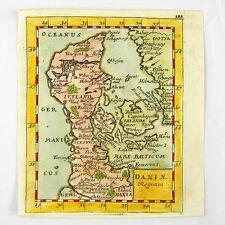 Denmark Zeeland Fyn Baltic Copperplate Map Duval du Val 1681 #d892s