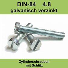 M 4 DIN 84 verzinkte Zylinderschrauben Zylinderkopfschrauben Schlitzschraube M4x
