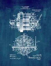 Rotary Engine Patent Print Midnight