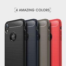 Housse etui coque silicone gel carbone pour Apple iPhone XR + film ecran